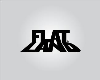 flat-land-typographic-logo-inspiration